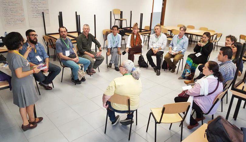 Sesión de trabajo con el grupo latinoamericano durante la Conferencia.