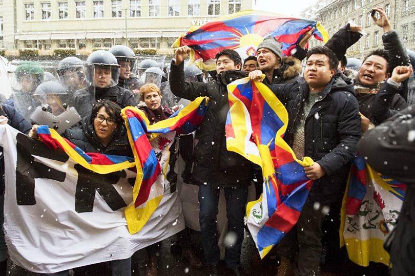 protesta_Suiza_tibet_Xi_jinping_tibetanos