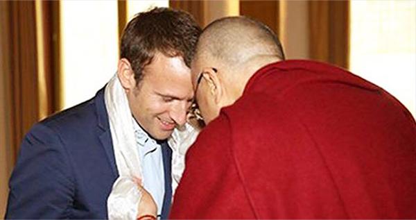 Macron-y-Dalai Lama