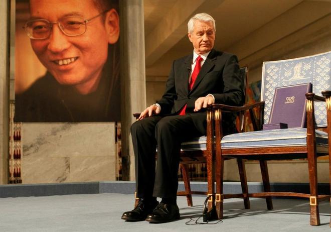 Silla vacía del Premio Nobel Lui Xiaobo